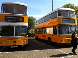 Leyland Atlantean AN68C/2R with Alexander double-deck body.