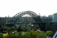Tyne Bridge with Olympic Badge