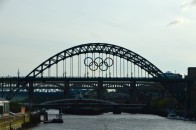 Tyne Bridge with Olympic Badge Sillhouette