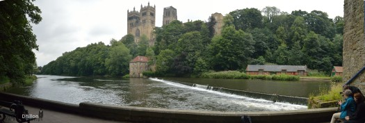 Durham Cathedral Riverbank Panorama