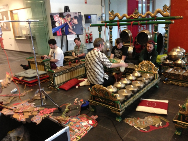 Gamelan Getting Prepped