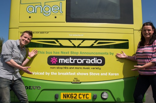 Go North East Angel Bus with Steve and Karen 3