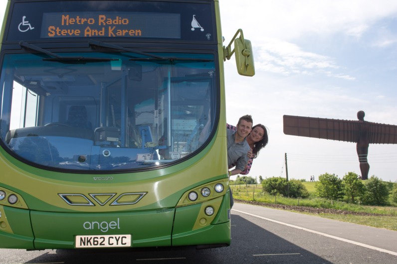 Go North East Angel Bus with Steve and Karen 2