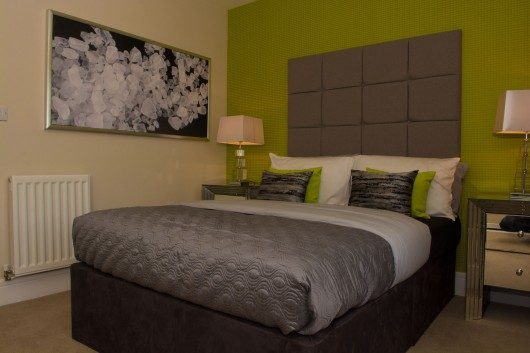 Bett Homes Photography - Green Bed Room