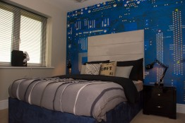 Bett Homes Photography - Blue Bed Room