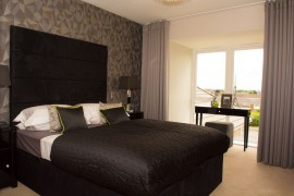 Bett Homes Photography - Black Bed Room